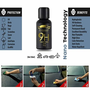 9H Keramik Versiegelung, Greyghost Nano Versiegelung Auto Hightech Lackschutz, Mr Fix 9H Nano Keramikversiegelung Auto Ceramic Coating Kratzer - 4