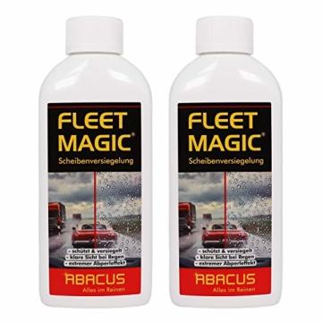 ABACUS Fleet Magic 2X 250 ml (7101) - Scheibenversiegelung Glasversiegelung Windschutzscheiben-Versiegelung Scheiben Glas Regenabweiser Wasserabweiser unsichtbarer Scheibenwischer Abperleffekt - 1