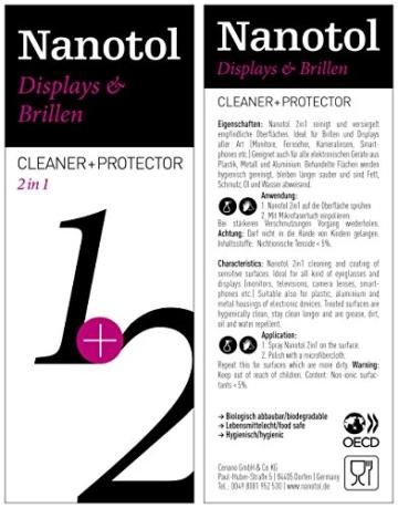 Brillenreiniger Spray und Display Reiniger mit Nanoversiegelung - spart 80% Reinigungszeit (125 ml) - 4