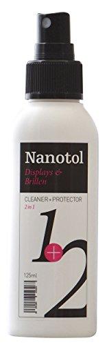Brillenreiniger Spray und Display Reiniger mit Nanoversiegelung - spart 80% Reinigungszeit (125 ml) - 1