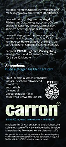 carron PTFE-II Acryl-Glas-Versiegelung Set gegen Kalk-Schmutz Dusche Duschwand Badewanne Duschkabine Fliesen dauerhaft reinigen - 4