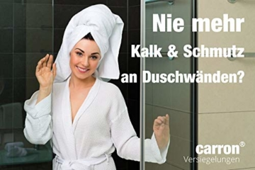 carron PTFE-II Acryl-Glas-Versiegelung Set gegen Kalk-Schmutz Dusche Duschwand Badewanne Duschkabine Fliesen dauerhaft reinigen - 5