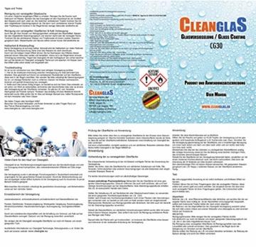Cleanglas Nanoversiegelung Dusche Bad Fenster Set M Glasversiegelung, Anti Kalk Effekt, Nano Glas Versiegelung Fenster Putzen Mit Lotuseffekt (M bis zu 48m2) - 8