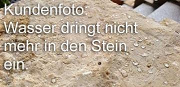 CleanPrince Natursteinversiegelung 1 Liter wasserabweisend ölabweisend, hochergiebig, frostbeständig, UV-stabil, ohne Glanz, Gartenplatten, Terrassenplatten, Klinker, Ziegel, Sandstein, Granit, unpoliertes Feinsteinzeug, offenporige Pflanzkübel aus Keramik oder Terrakotta. Es ist eine wasser- sowie fettabweisende Profi-Versiegelung auf Basis von Siloxanverbindungen. Stein Siegel Steinsiegel Steinversiegelung Natursteine Marmor Granit Fleckschutz Schutz Fleckstopp Naturstein-Versiegelung - 5
