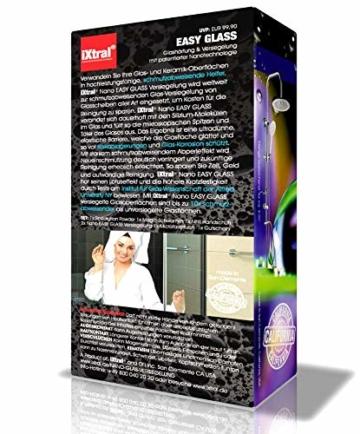 iXtral Duschwand Easy-to-Clean Nanoversiegelung Lotuseffekt für Glas Fliesen Keramik Porzellan gegen Kalk & Schmutz - Dusche reinigen mit Abperleffekt (US-Patent) - 2