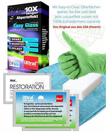 iXtral Duschwand Easy-to-Clean Nanoversiegelung Lotuseffekt für Glas Fliesen Keramik Porzellan gegen Kalk & Schmutz - Dusche reinigen mit Abperleffekt (US-Patent) - 3