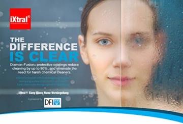 iXtral Duschwand Easy-to-Clean Nanoversiegelung Lotuseffekt für Glas Fliesen Keramik Porzellan gegen Kalk & Schmutz - Dusche reinigen mit Abperleffekt (US-Patent) - 5