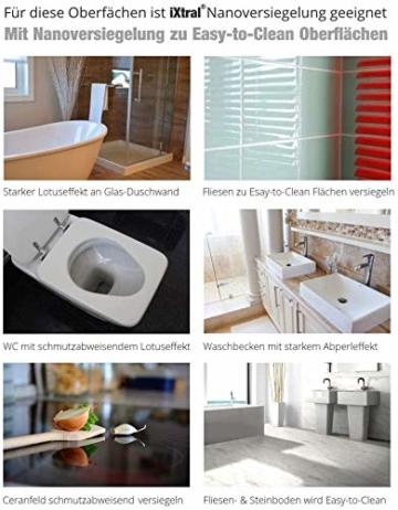 iXtral Easy Glass 2-in-1 Set Nanoversiegelung Dusche Duschwand, Glasversiegelung mit Tiefen-Reiniger Lotuseffekt Abperleffekt an Glas Fliesen Porzellan gegen Kalk & Schmutz, nicht für Acrylglas - 2