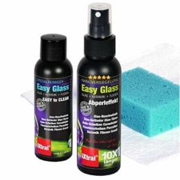 iXtral Easy Glass 2-in-1 Set Nanoversiegelung Dusche Duschwand, Glasversiegelung mit Tiefen-Reiniger Lotuseffekt Abperleffekt an Glas Fliesen Porzellan gegen Kalk & Schmutz, nicht für Acrylglas - 1