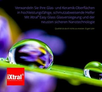 iXtral Easy Glass 2-in-1 Set Nanoversiegelung Dusche Duschwand, Glasversiegelung mit Tiefen-Reiniger Lotuseffekt Abperleffekt an Glas Fliesen Porzellan gegen Kalk & Schmutz, nicht für Acrylglas - 9
