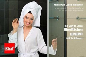 iXtral ® repell ultra Glas-Versiegelung Set gegen Kalk & Schmutz für Dusche & Fliesen. Mit Tiefen-Reiniger und Politur auch für Badewannen. - 6