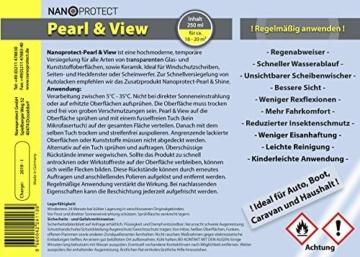 Nanoprotect Pearl & View | Regenabweiser | Die schnelle Glasversiegelung | Unsichtbarer Scheibenwischer | 250 ml - 4