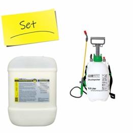 Nanoprotect Steinimprägnierung mit Drucksprüher | Profi Qualität | Vorbeugend gegen Grünbelag und Einschmutzung | 10 L für ca. 80-120 m² - 1