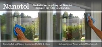 Nanotol Fensterversiegelung Set - Komplett Set zum Auftragen einer EASY-TO-CLEAN Beschichtung (Nanoversiegelung) für 40 m² Fensterglas inkl. Rahmen / Fensterreiniger + Glasversiegelung mit Lotuseffekt - 4