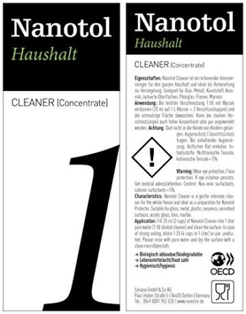 Nanotol Nanoversiegelung-Set für Fenster und Haushalt - spart 50% Reinigungszeit beim Fenster putzen - Haus-Set M (40 m²) - 4