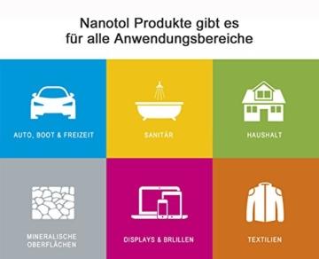 Nanotol Sanitär 1+2, Hybrid Profi Badreiniger mit Lotuseffekt, reinigt, entkalkt und versiegelt gleichzeitig NS21-6 (1000 ml) - 3