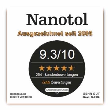 Nanotol Sanitär 1+2, Hybrid Profi Badreiniger mit Lotuseffekt, reinigt, entkalkt und versiegelt gleichzeitig NS21-6 (1000 ml) - 4