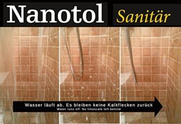 Nanotol Sanitär 1+2, Hybrid Profi Badreiniger mit Lotuseffekt, reinigt, entkalkt und versiegelt gleichzeitig NS21-6 (1000 ml) - 7