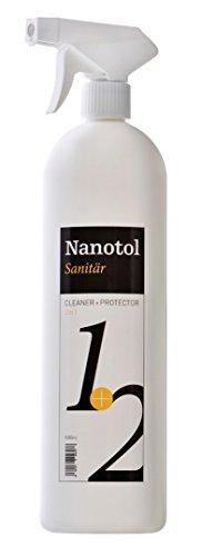 Nanotol Sanitär 1+2, Hybrid Profi Badreiniger mit Lotuseffekt, reinigt, entkalkt und versiegelt gleichzeitig NS21-6 (1000 ml) - 1