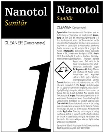 Profi Bad-Versiegelung-Set mit Lotuseffekt, Nano-Versiegelung spart 80% Reinigungszeit, Nanotol Sanitär-Set mit Cleaner & Protector + Mikrofasertücher zum Kalk-Schutz für Duschkabine, Keramik, Fliesen - 4