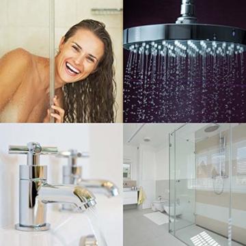 Profi Bad-Versiegelung-Set mit Lotuseffekt, Nano-Versiegelung spart 80% Reinigungszeit, Nanotol Sanitär-Set mit Cleaner & Protector + Mikrofasertücher zum Kalk-Schutz für Duschkabine, Keramik, Fliesen - 9