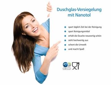 Set Duschkabinen Versiegelung - Nanoversiegelung Dusche - Lotuseffekt für Duschglas - 2