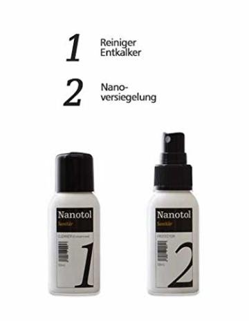 Set Duschkabinen Versiegelung - Nanoversiegelung Dusche - Lotuseffekt für Duschglas - 6