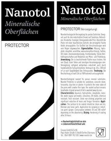 Steinversiegelung Steinimprägnierung - Nanotol Protector für mineralische Oberflächen - Nanotechnologie Versiegelung für offenporige Steine (250 ml - 5m²) - 6